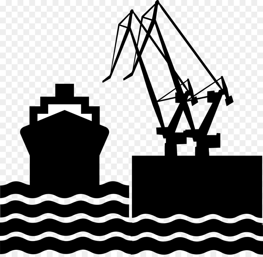 Clipart port picture download Black Line Background png download - 2400*2324 - Free Transparent ... picture download