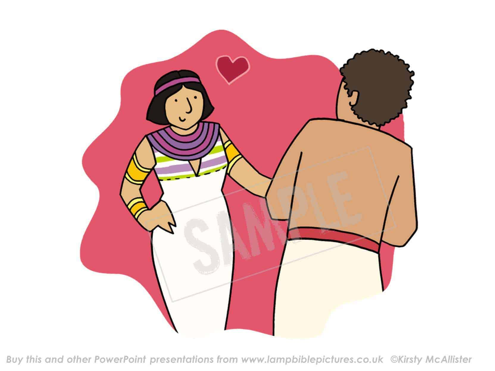 Clipart potiphars wife clipart royalty free library Joseph and Potiphar\'s wife - Lamp Bible Pictures clipart royalty free library