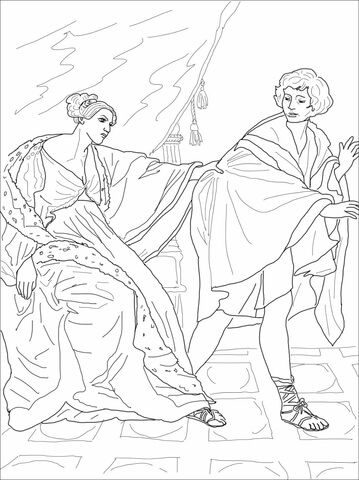 Clipart potiphars wife clip art Joseph and Potiphar\'s Wife coloring page | Free Printable Coloring Pages clip art