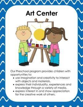 Preschool centers clipart graphic black and white download Preschool Center Signs | Classroom | Preschool center signs ... graphic black and white download
