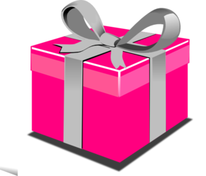 Clipart present png black and white library Pink Present Box Clip Art at Clker.com - vector clip art online ... png black and white library