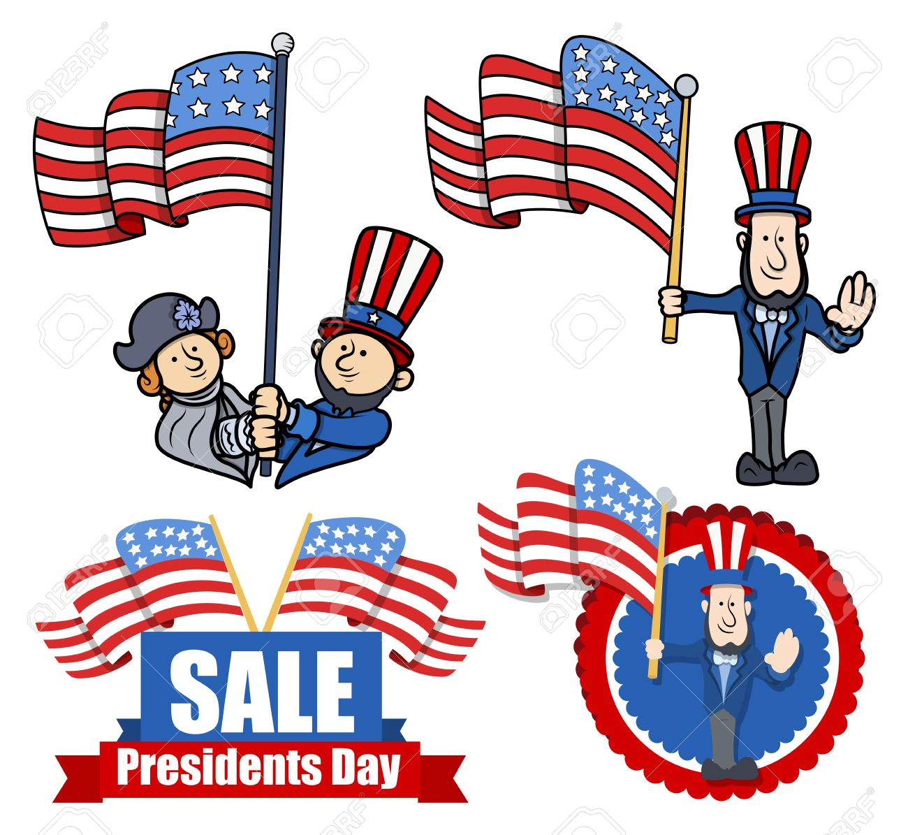 Clipart presidents united states image USA Presidents Clip Art – Clipart Free Download image