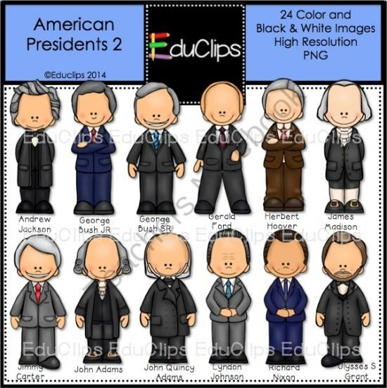 Clipart presidents united states jpg download American Presidents 2 Clip Art Bundle from Educlips on ... jpg download