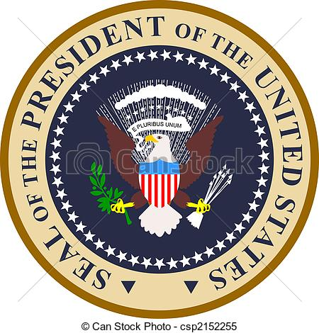 Clipart presidents united states clip transparent download Stock Illustrations of Presidential seal in color - Illustration ... clip transparent download