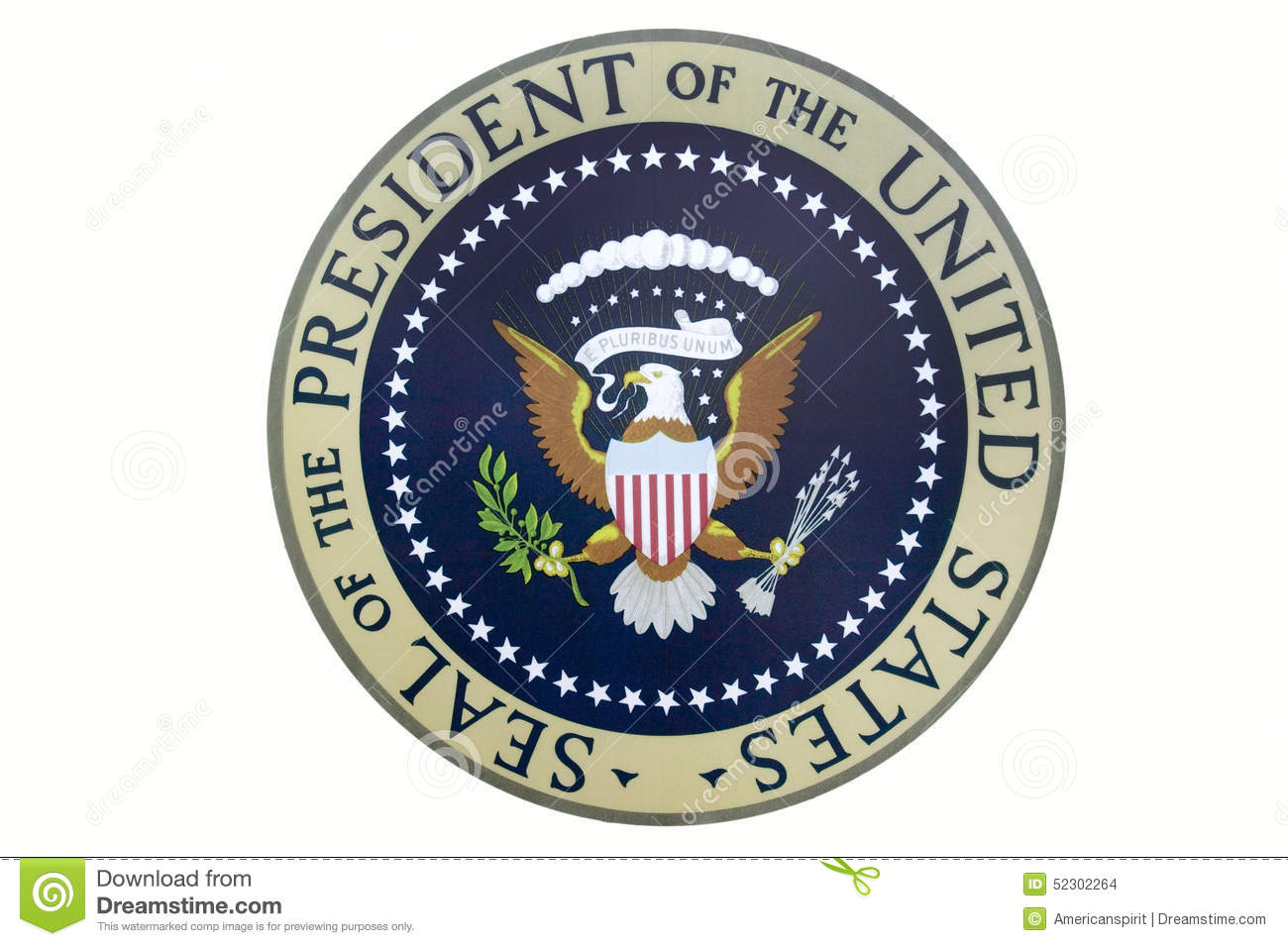 Clipart presidents united states jpg black and white download Seal Of The President Of The United States On Display At The ... jpg black and white download