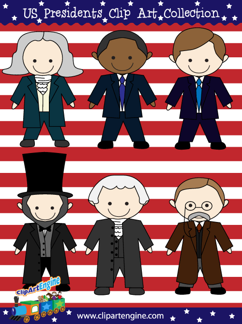 Clipart presidents united states clip art library stock U.S. Presidents Clip Art Collection for Personal and Commercial Use clip art library stock