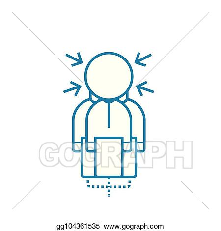 Clipart pressure svg library Vector Clipart - Pressure of circumstances linear icon concept ... svg library