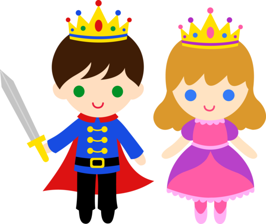 Prince cartoon clipart picture black and white stock Free clip art of a cute little prince and princess | Freebies ... picture black and white stock