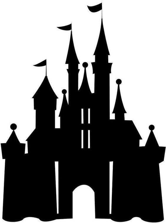Clipart princess and castle scenes on pillowcase svg Disney Castle | Scroll Saw Patterns | Disney castle silhouette ... svg