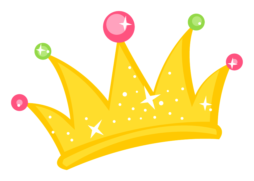 Minus say hello cartoon. Crown with princess clipart