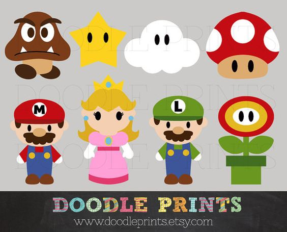 Clipart printable clipart free download Mario Bros Clipart, Digital Clip Art Printable, Super Mario ... clipart free download