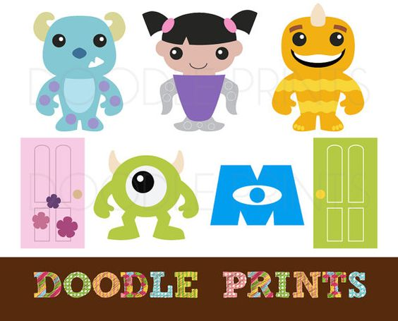 Clipart printable clip Digital Clip Art Printable - Monsters INC Design - Monsters Sully ... clip