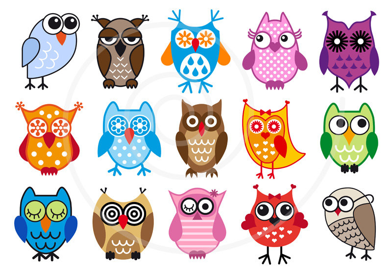 Clipart printable graphic download Individual Owl Printable Clipart - Clipart Kid graphic download