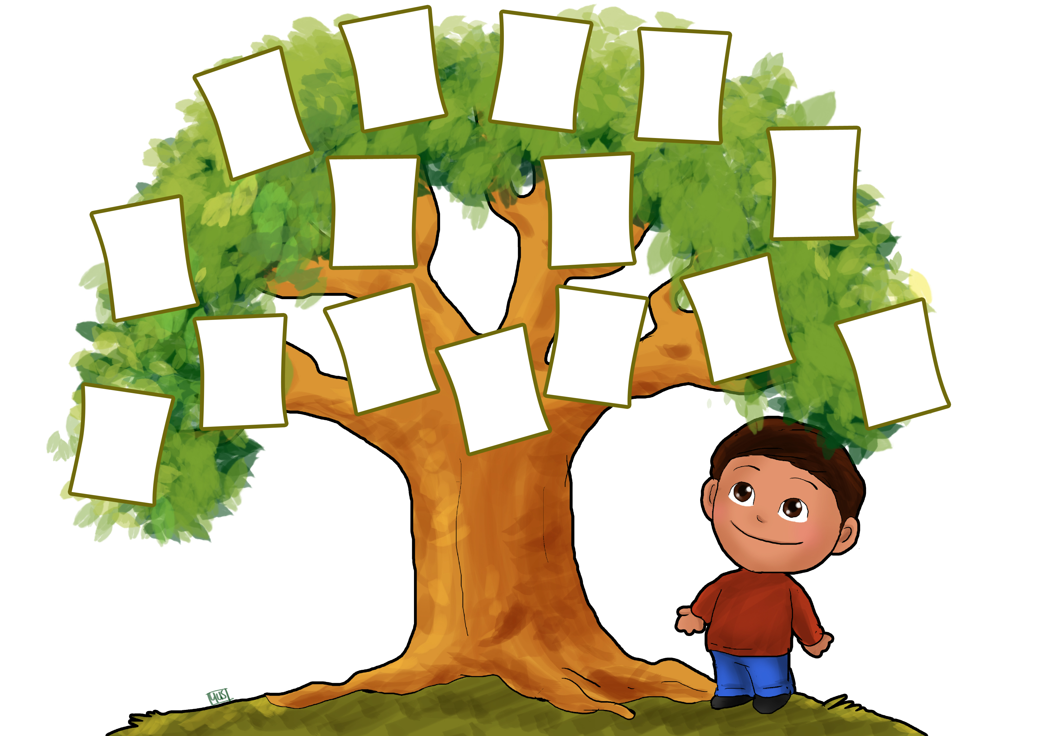 Clipart printable picture black and white stock FAMILY TREE PRINTABLE | Clipart Panda - Free Clipart Images picture black and white stock