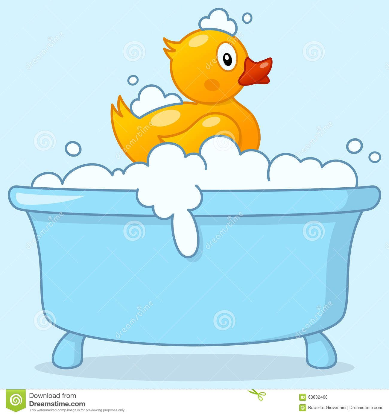Clipart products made out of duck black and white library Cartoon Boy Bathtub With Rubber Duck Stock Vector - Image: 63882460 ... black and white library