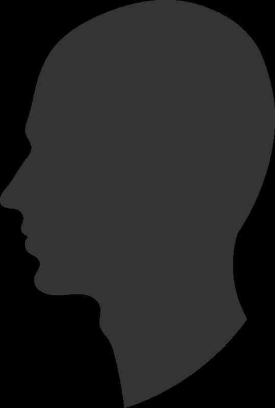 Clipart profile graphic Free Clipart: Head profile | PrinterKiller graphic