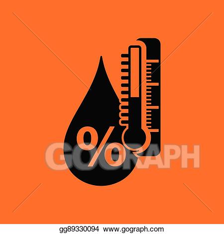 Clipart psycrometer clip free EPS Illustration - Humidity icon. Vector Clipart gg89330094 - GoGraph clip free