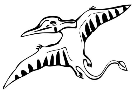 Clipart pterodactyl pile black and white clip art free library Living pterosaurs (\