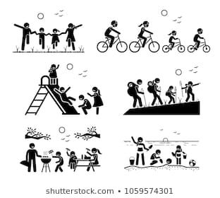 Clipart public park recreation picnic fisherman people silhouette svg freeuse library Family outdoor recreational activities. Stick figure pictogram ... svg freeuse library