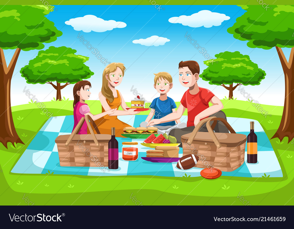 Clipart public park recreation picnic fisherman people silhouette svg freeuse stock Happy family having a picnic svg freeuse stock
