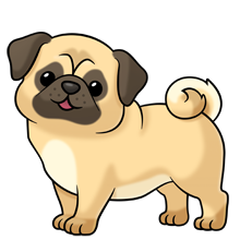 Clipart pugs picture free stock pug ~ soooo many more images at the link of all kinds of animals ... picture free stock