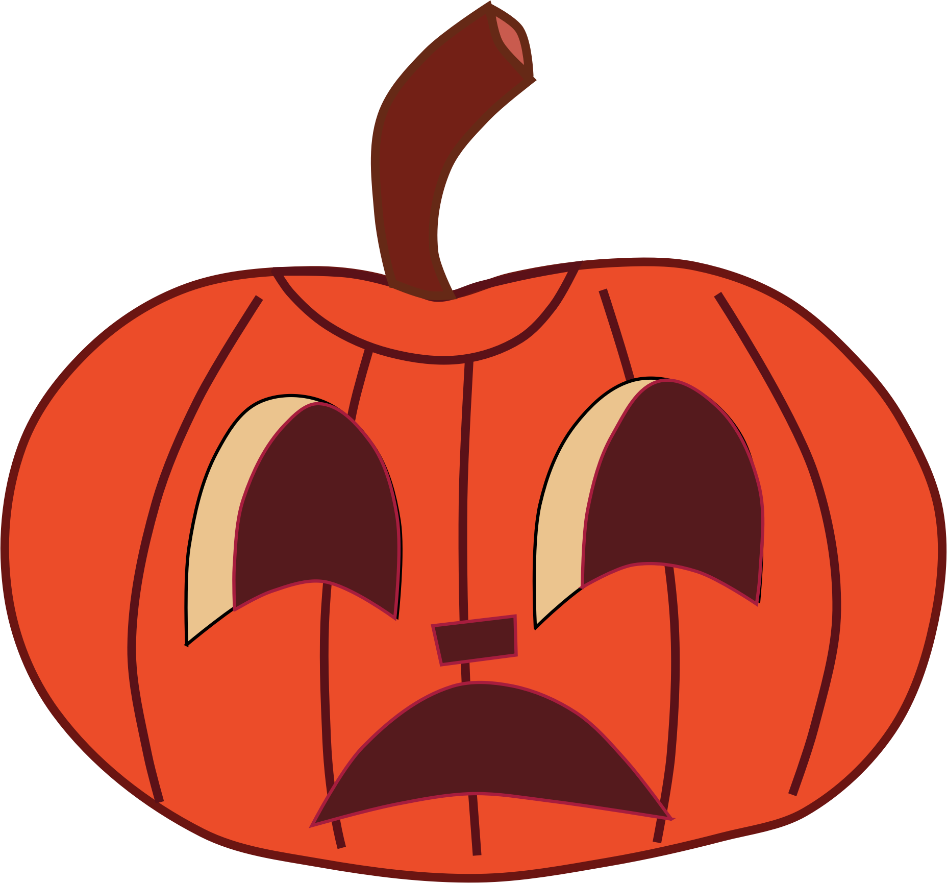 Pumpkin faces clipart free Clipart - Painted Halloween Pumpkin Faces free