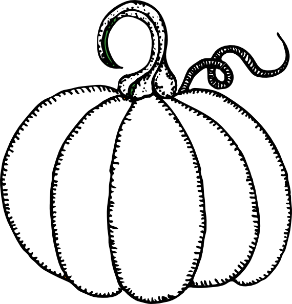Totetude Pumpkin Outline Clip Art at Clker.com - vector clip art ... banner royalty free download