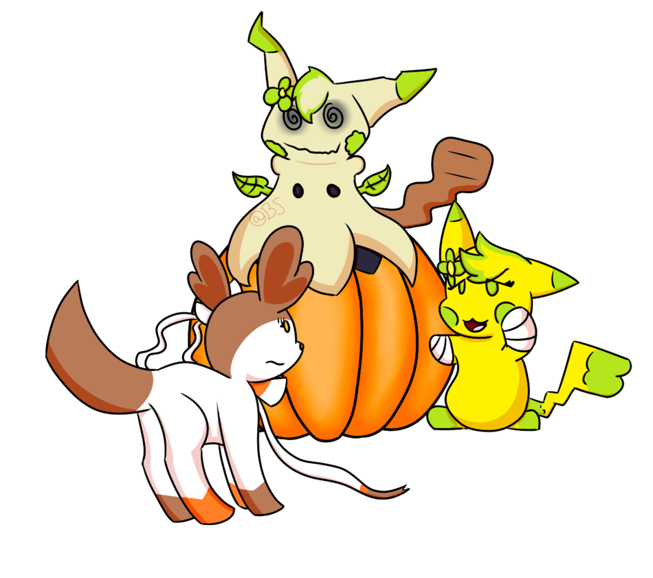 Clipart pumpkin pokemon picture freeuse library Pumpkin 3 with Pokemon OC's by Brownsaur on DeviantArt picture freeuse library