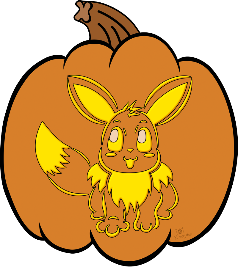 Clipart pumpkin pokemon graphic freeuse Eevee Jack-o-Lantern by MeMiMouse on DeviantArt graphic freeuse