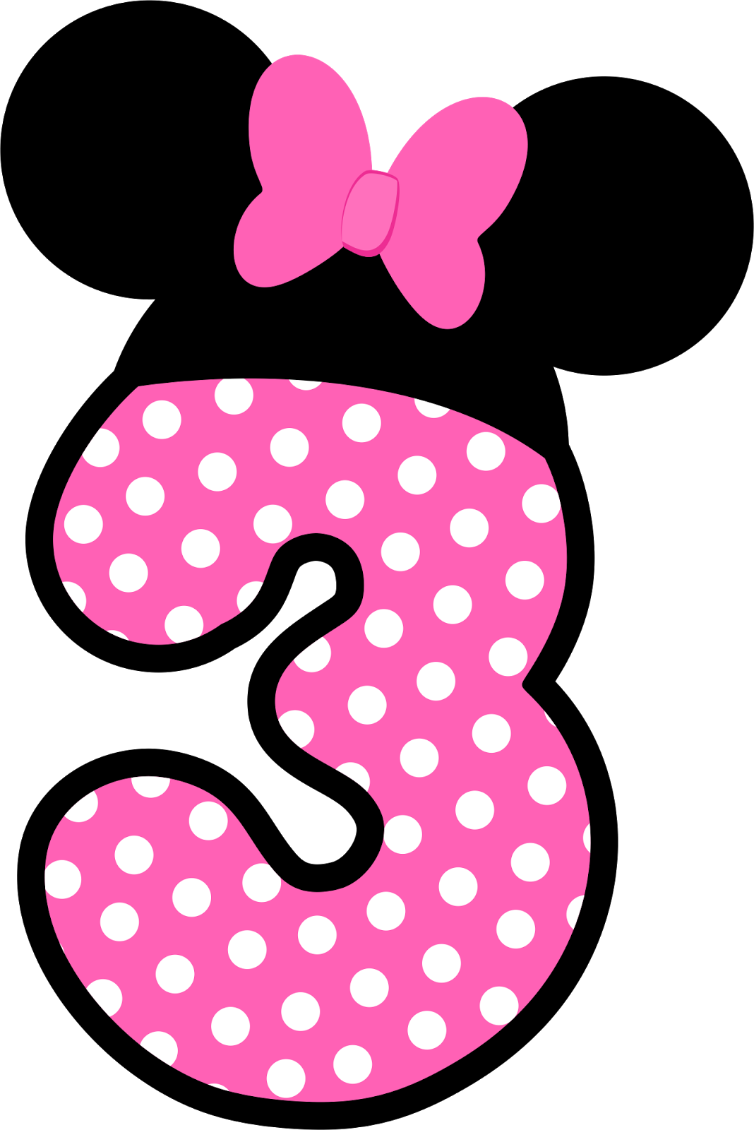 Clipart pumpkin polka dot jpg Números a lo Minnie en Rosa. | dekoratif harfler | Pinterest | Mice ... jpg