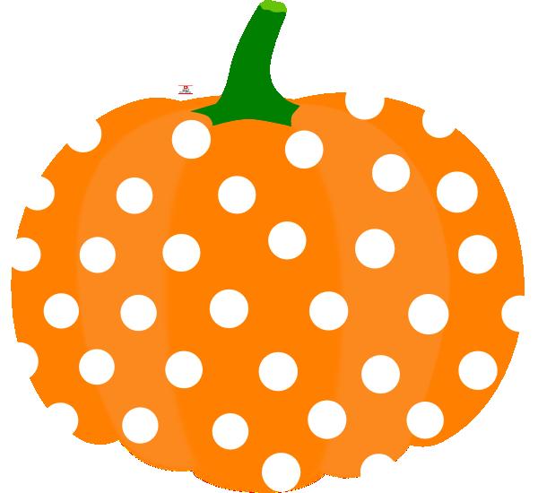 Pink and orange pumpkin clipart