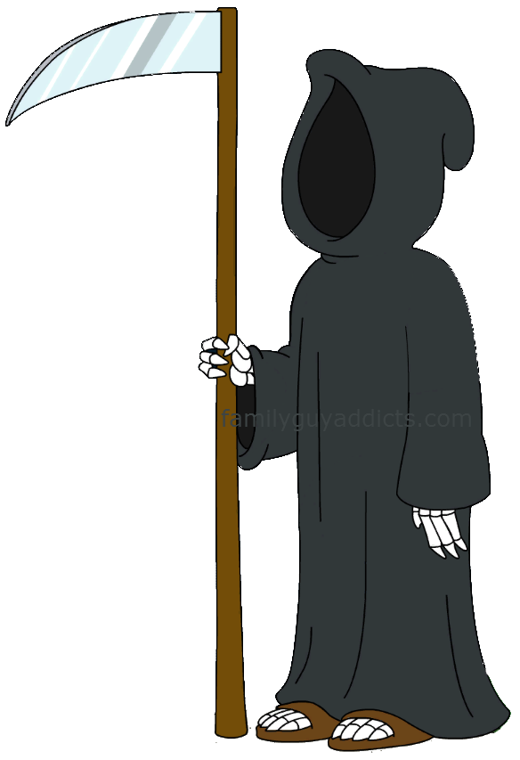 Clipart pumpkin protest different messages from family others screaming png download Death At The Drive-In Character Profile: Death | Family Guy Addicts png download