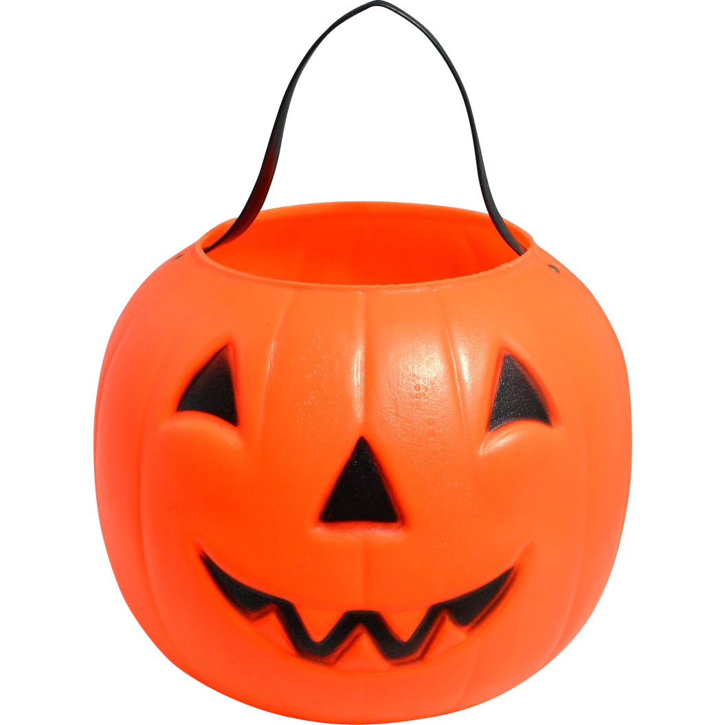 Halloween vintage scary pumpkin clipart royalty free download Empire Blow Mold Plastic Jack-o-Lantern Candy Pail or Bucket ... royalty free download