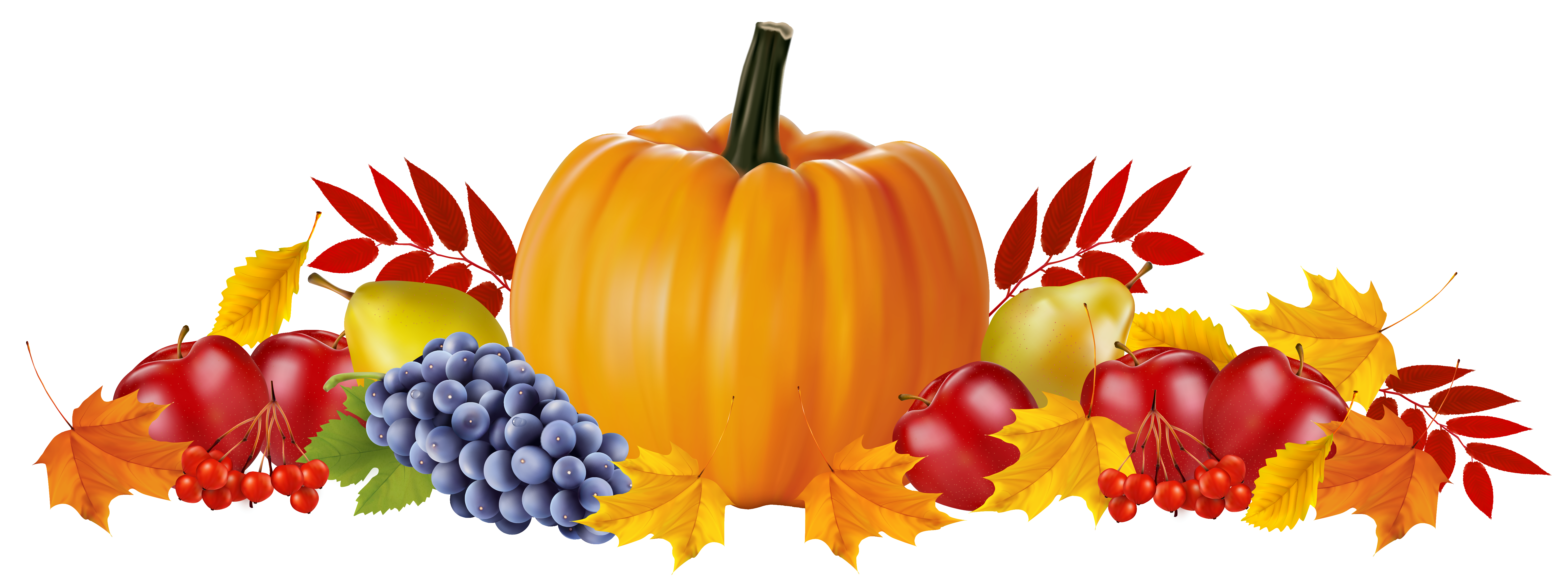 Clipart pumpkin with leaves graphic transparent download Autumn Fruits and Leaves PNG Clipart Image | Gallery Yopriceville ... graphic transparent download