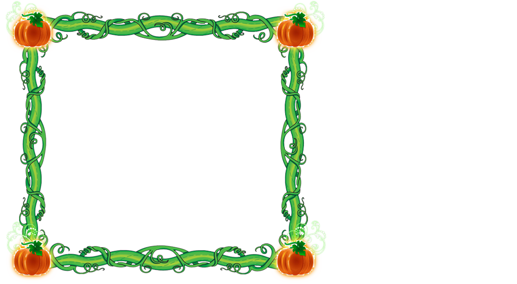 Clipart pumpkin with vine graphic library download Pumpkin Vine Frame by writerfairy on DeviantArt graphic library download