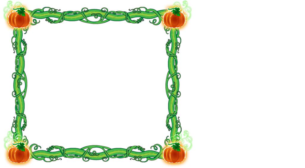 Pumpkin frame clipart clip art freeuse Pumpkin Vine Frame by writerfairy on DeviantArt clip art freeuse