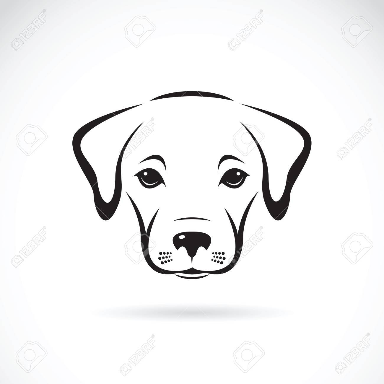 Clipart puppy face banner download Vector of a labrador puppy face on white background. Dog. Pet ... banner download