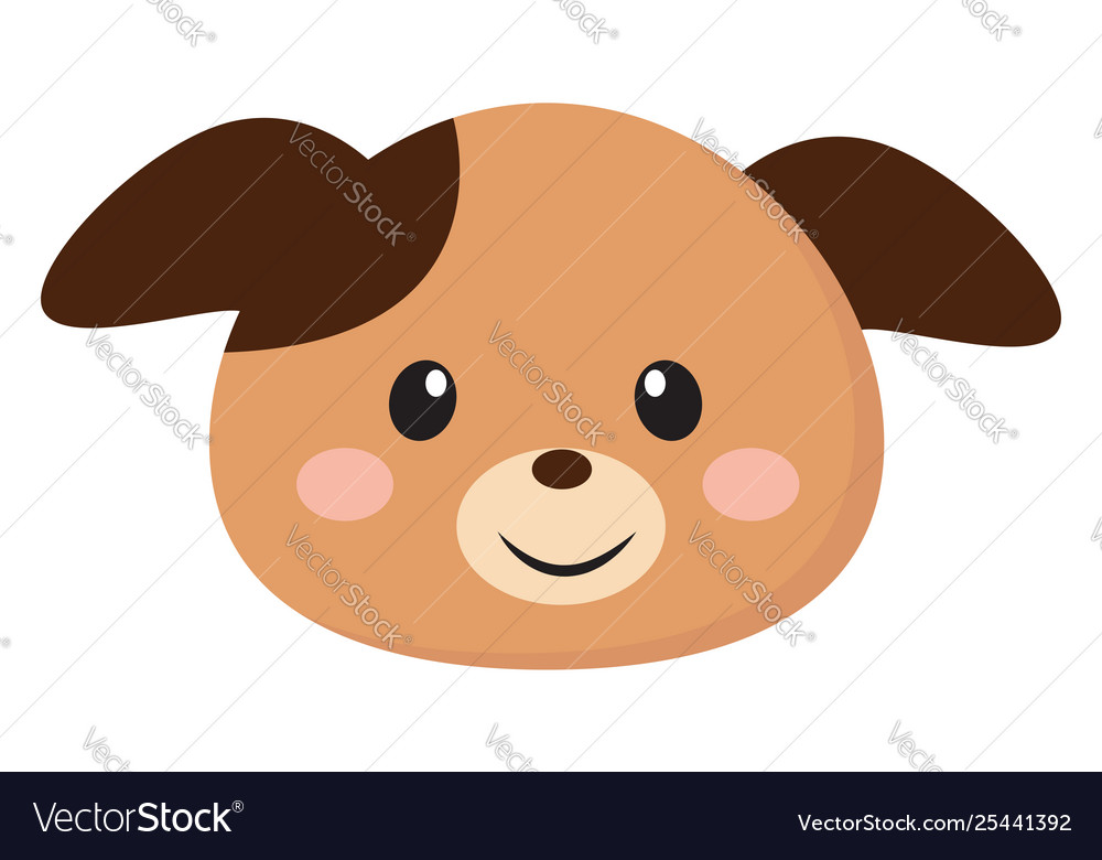 Clipart puppy face image royalty free Clipart smiling face a puppy or color image royalty free