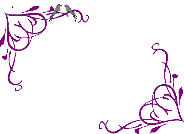 Purple flowers clipart border