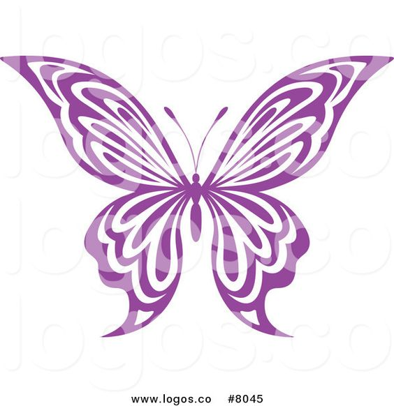 Clipart purple butterfly with hearts on wings clip art library library butterfly clip art | Royalty Free Clip Art Vector Logo of a Purple ... clip art library library
