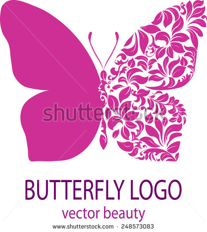 Clipart purple butterfly with hearts on wings clip art free Butterfly Logo Purple Butterfly Patterned Wing Stock Illustration ... clip art free