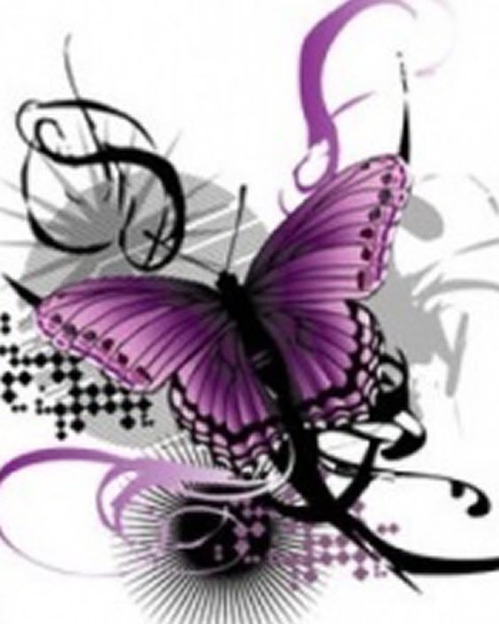 Clipart purple butterfly with hearts on wings picture transparent library free clip art purple and black heart wings | Artistic Beauty ... picture transparent library