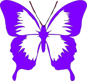 Clipart purple butterfly with hearts on wings clipart black and white library Clipart purple butterfly with hearts on wings - ClipartFox clipart black and white library