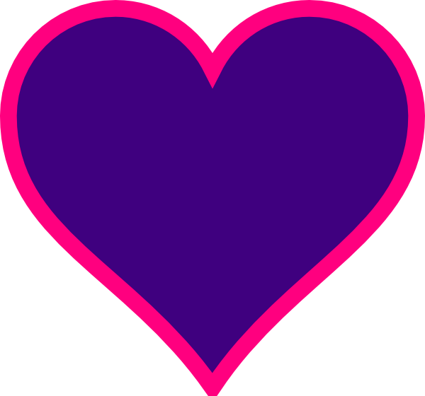 Clipart purple heart clip library library Magenta & Purple Heart Clip Art at Clker.com - vector clip art ... clip library library