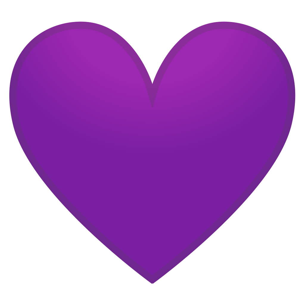 Clipart purple heart banner royalty free library Purple heart Icon | Noto Emoji People Family & Love Iconset | Google banner royalty free library
