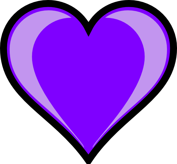 Heart clipart purple picture freeuse download Purple Heart Clip Art | Clipart Panda - Free Clipart Images picture freeuse download