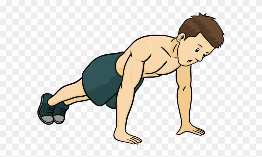 Clipart push ups png Pilates In The Morning - Cartoon Man Doing Push Ups - Free ... png