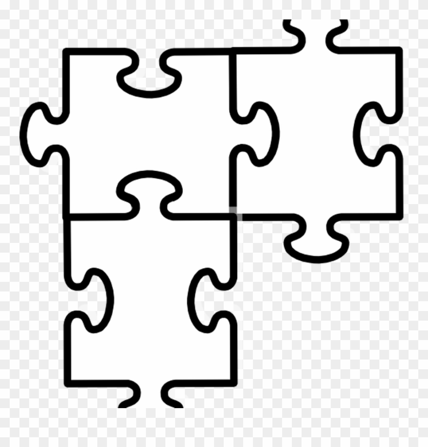 Clipart puzzle pieces template png stock Free Puzzle Pieces Template Download Free Clip Art - Two Jigsaw ... png stock