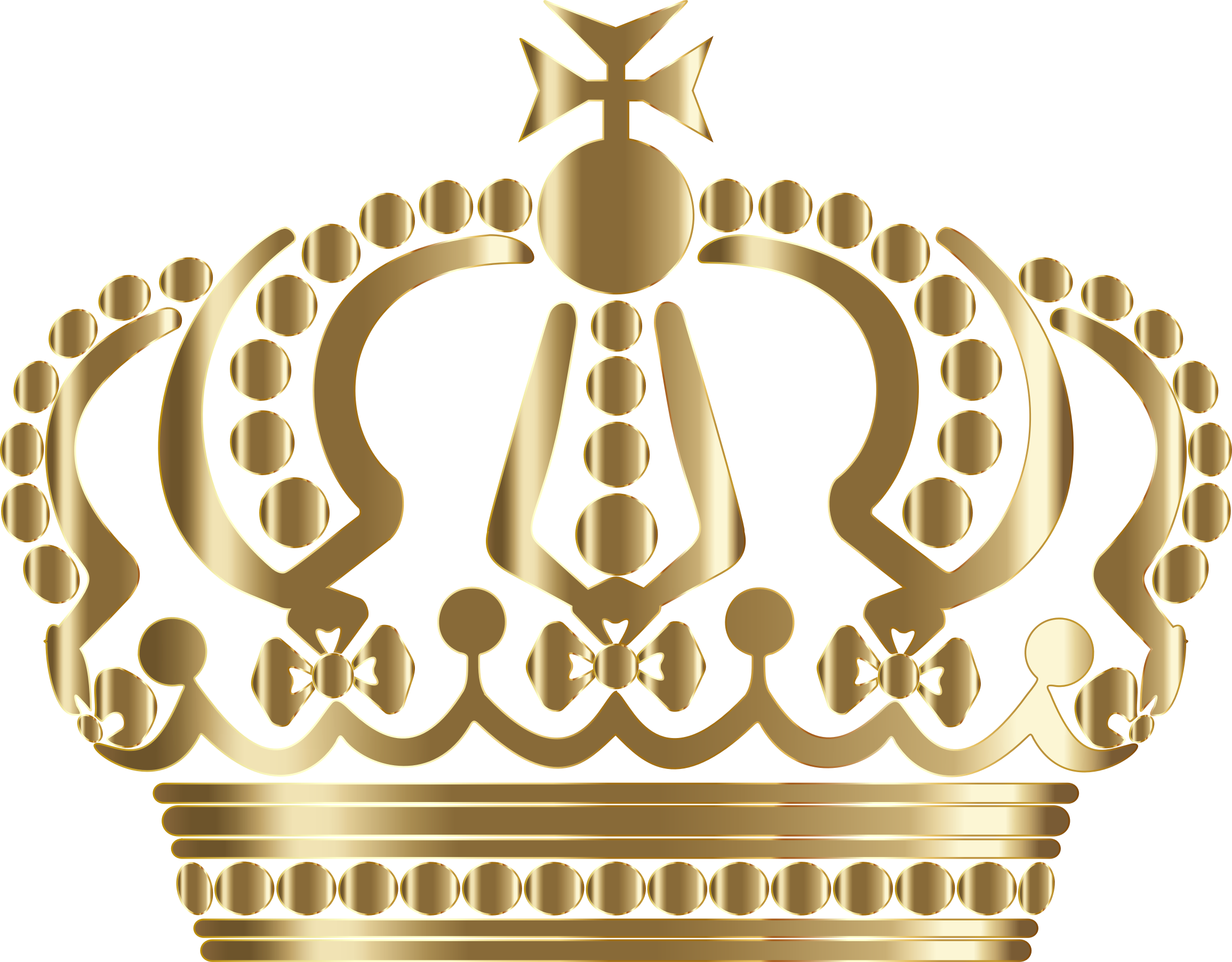 Crown clipart gold banner black and white library Clipart - Gold German Imperial Crown No Background banner black and white library