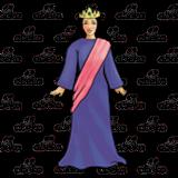 Clipart queen esther clip Queen Esther , with royal robes clip